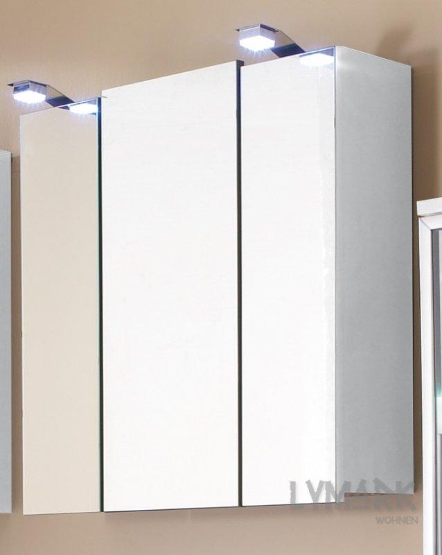 Aldi Spiegelschrank Mit Led Beleuchtung : Großer Spiegelschrank Marina weiß, mit LED-Beleuchtung