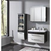 Badezimmermöbel Anthrazit badmöbelset roma 80 hochgl weiß anthrazit 2tlg