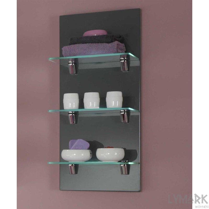 wandregal marado mit glasb den grau 59 00 g ns. Black Bedroom Furniture Sets. Home Design Ideas